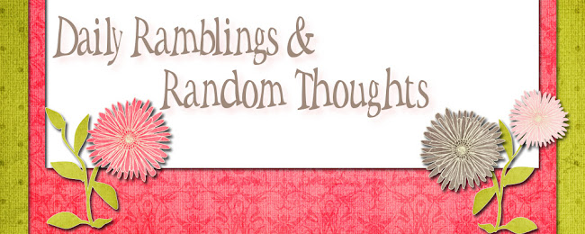 Daily Ramblings  &amp; Random Thoughts