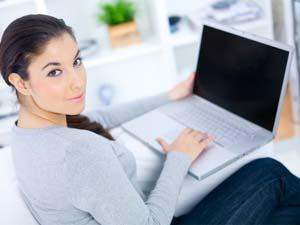 5 Things Your Girlfriend Likes To Do On Facebook  - girl using laptop computer