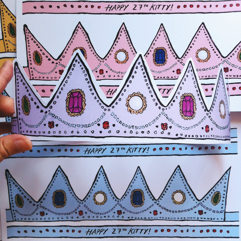 Kitty N. Wong / Hand Drawn Paper Crowns