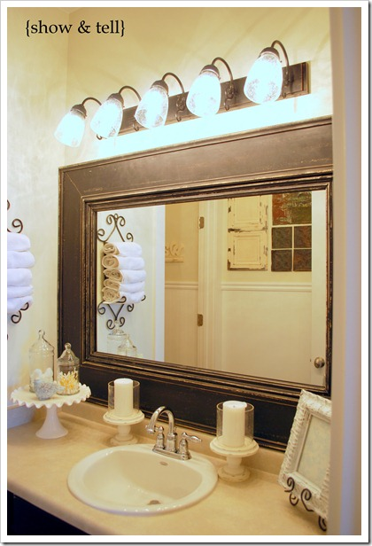 5 ways to install molding to upgrade your home tip junkie - Frame bathroom mirror with moulding ...