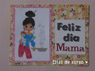 scrap postal dia de la madre