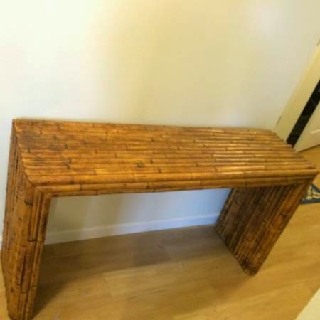 Bamboo Sofa Table With 2 Matching End Tables   $100 (Boulder)