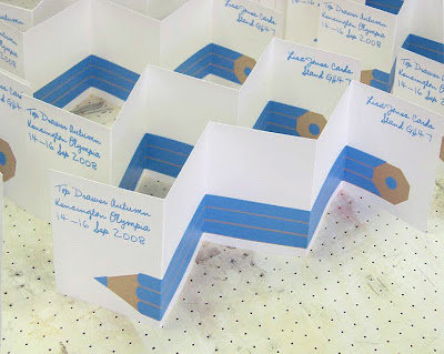 silk-screened concertina stationery