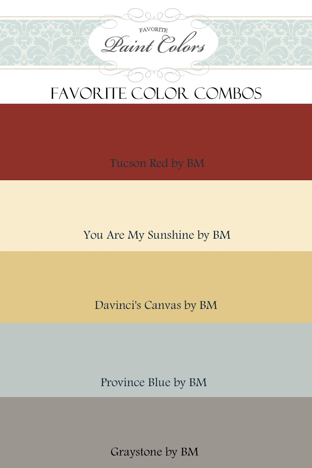 Color Combinations For Tucson Red Favorite Paint Colors Blog