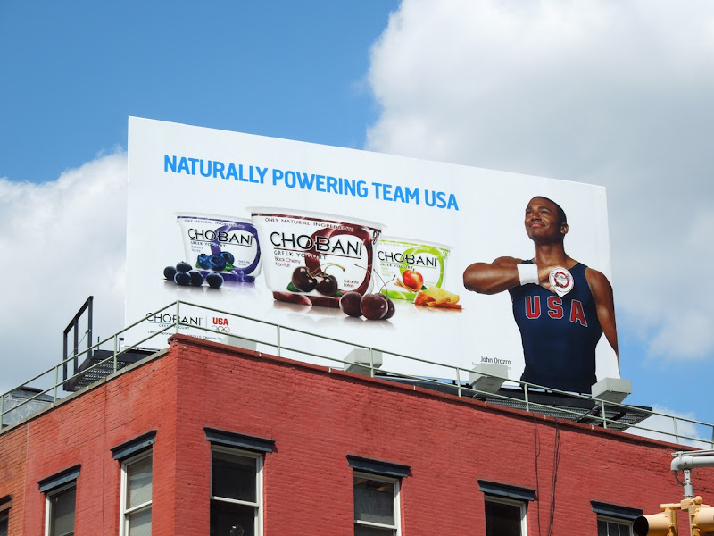 Chobani Team USA Olympics 2012 billboard NYC