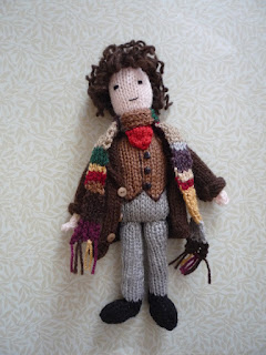Here's my new Doctor Who doll! Tom Baker, the Fourth Doctor, scarf