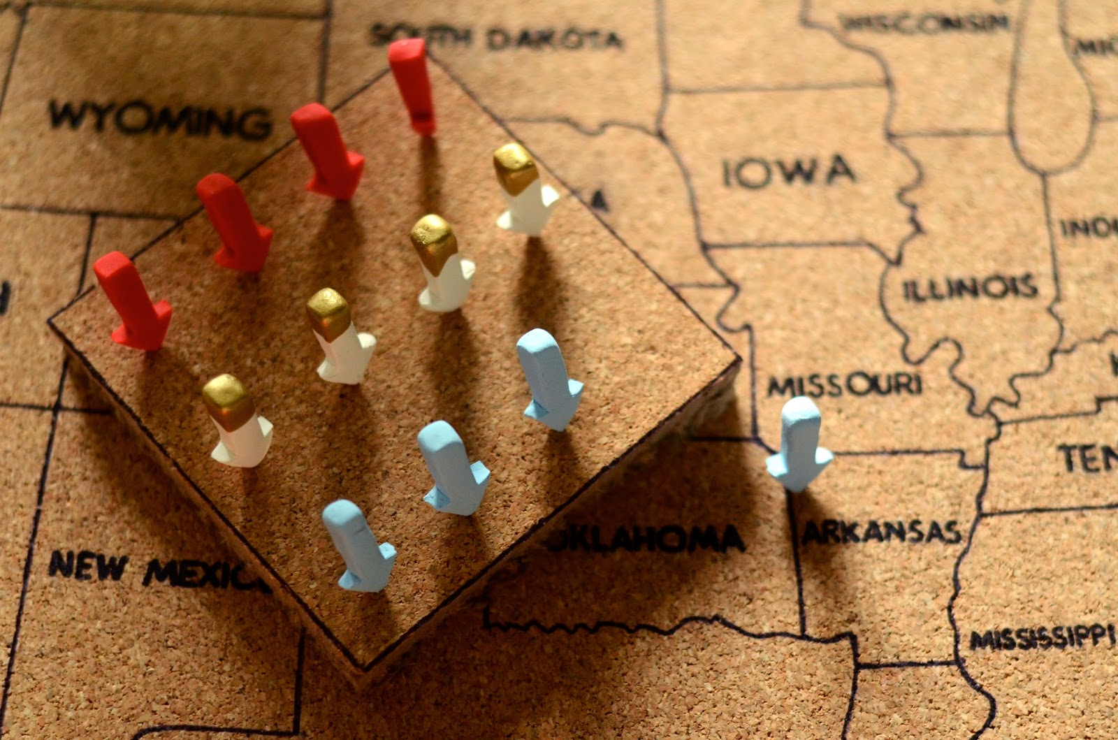 Natalie Creates Amaginarium Usa Corkboard Giveaway - Corkboard us map