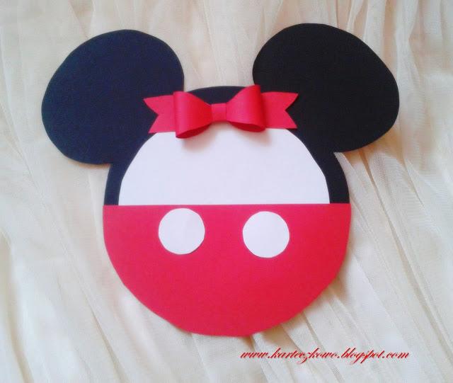 Zaproszenia, motyw przewodni Mickey Mouse