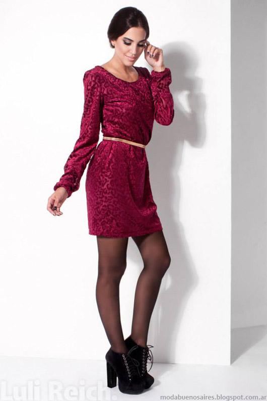 Moda vestidos casuales otoño invierno 2014. Luli Reich invierno 2014- Moda 2014.