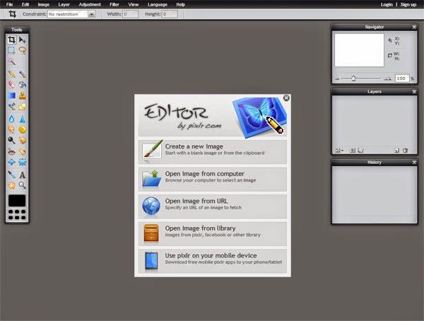 Tools Web Design Professional Pixlr