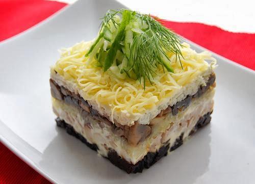 Салат венеция рецепт с черносливом