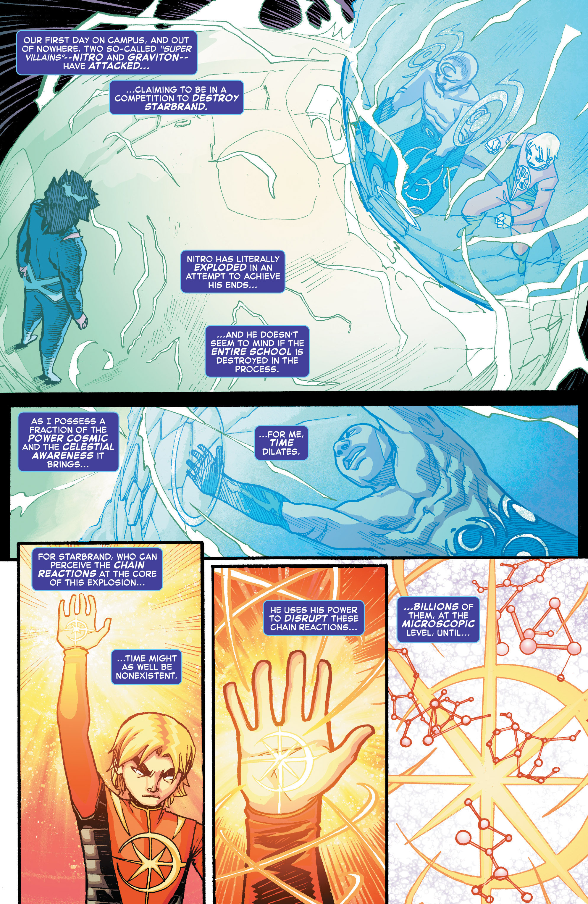 Read online Starbrand & Nightmask comic -  Issue #2 - 5
