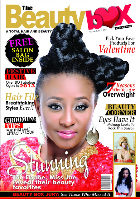 Curvy Actress Ini Edo, Covers the Valentine Edition of Beauty Box