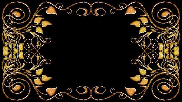 Molduras arabescos dourados 33 png
