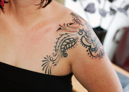 shoulder tattoos on girls tattoo ideas