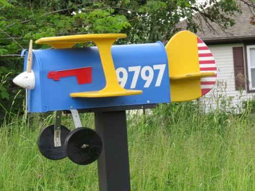 airplane mailbox