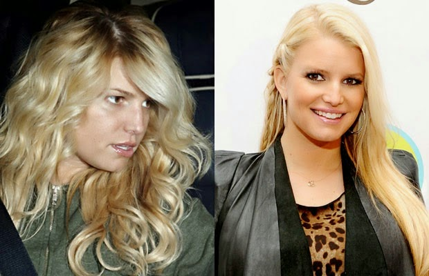 جيسكا جيسيكا سمبسون - jessica simpson - shocking celebrities without makeup photoshop