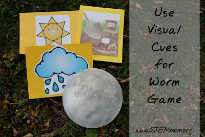 Use Visual Cues for Worm Game: Sun, Rain, Moon, Fisherman: STEMmom.org