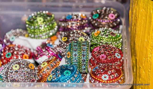 Colorful decorated kumkum box Rajasthan