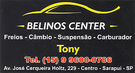 BELINOS CENTER Freios, Câmbio, Suspensão e Carburador