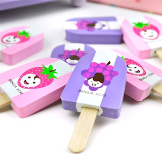 ice cream erasers at CoolPencilCast.com