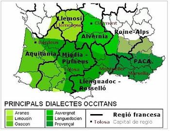 Mapa lingüistica occitana en lenga catalana