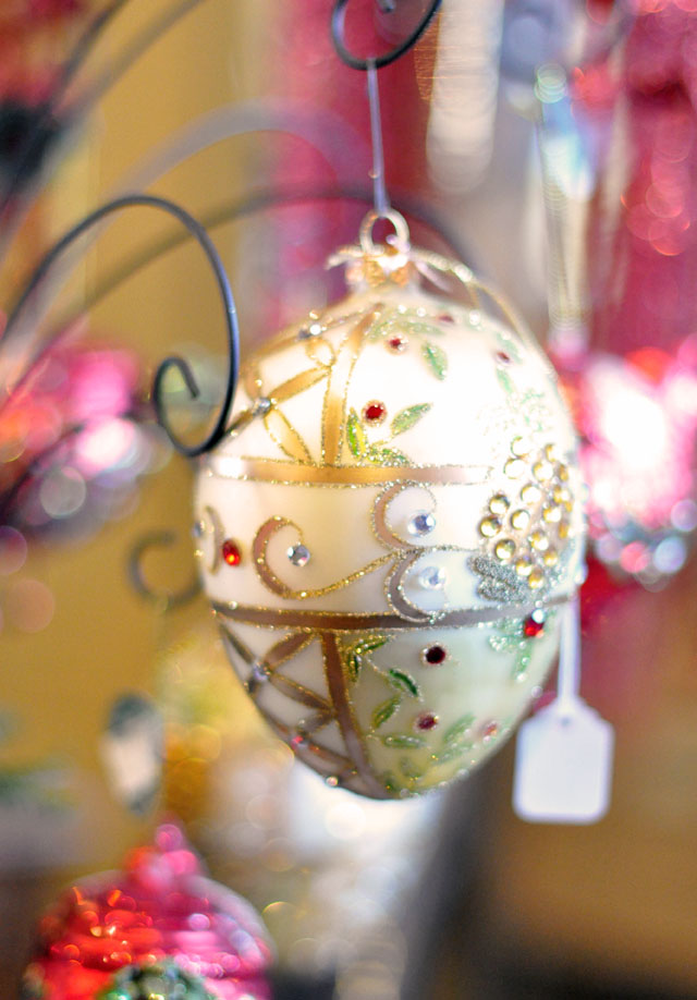 Christmas egg ornament