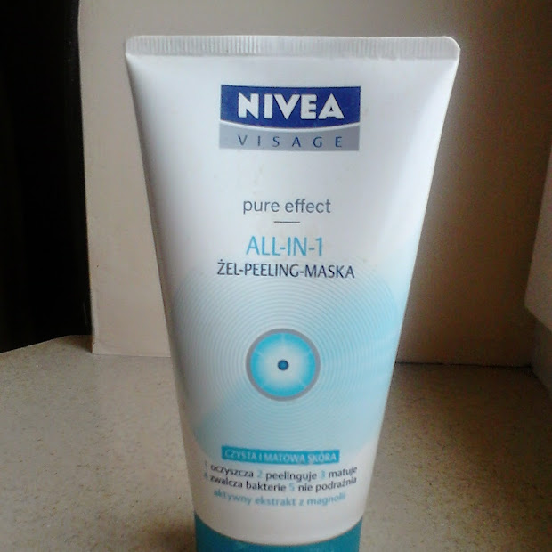 Nivea Visage, Pure Effect, All-in-1 żel - peeling - maska