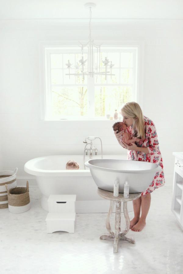 Baby Girl Bathroom Decor