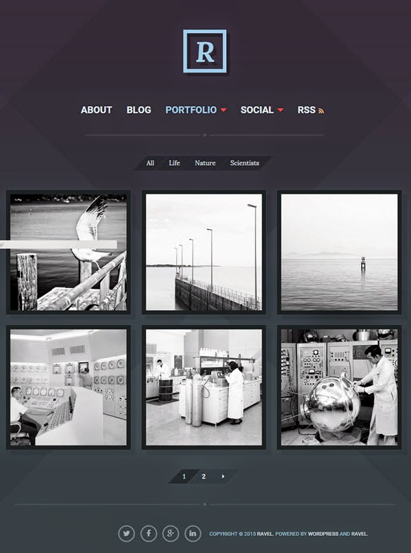 Ravel wordpress theme
