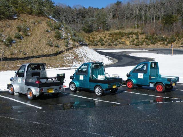 Daihatsu Midget II, rare, unique, cars, JDM, racing