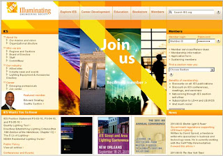 IES Illuminating Engineering Society, screenshot