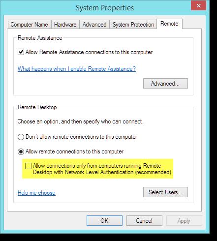 fix rdp client windows 7