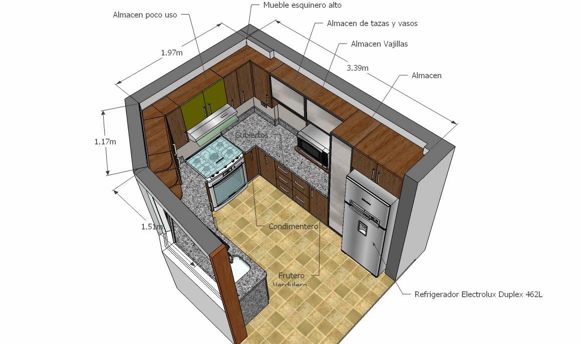 Oniria remodelaci n total de cocina de diez metros cuadrados for Cocina 13 metros cuadrados