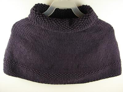 knit poncho capelett