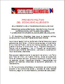 PROYECTO POLITICO DEL SOCIALISMO ALLENDISTA