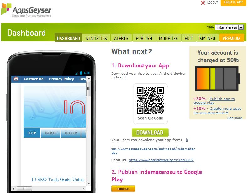 membuat aplikasi Android untuk situs Blog/ Website 4