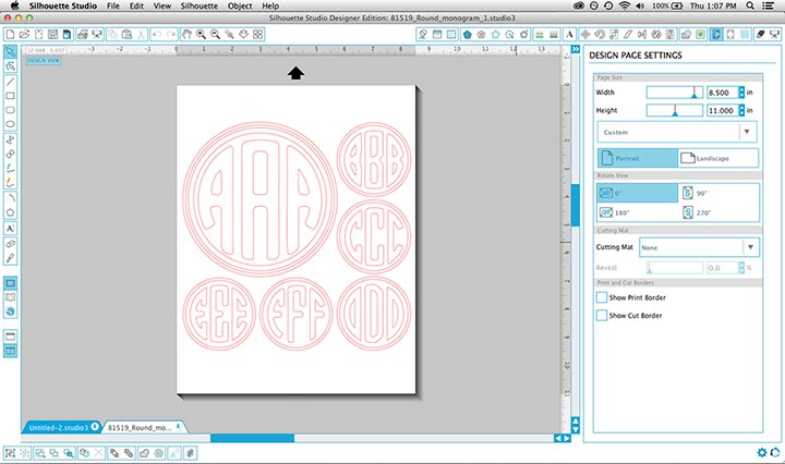 Sophie Gallo Design Blog: How to use Silhouette Monogram Files to ...