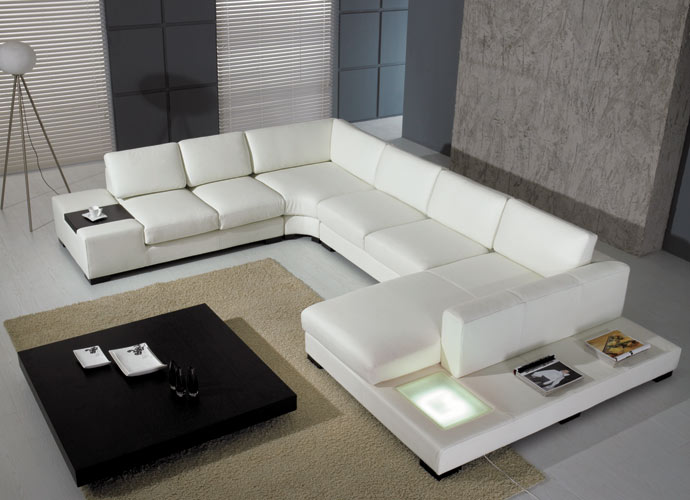 Outstanding Modern White Leather Sectional Sofa 690 x 500 · 55 kB · jpeg