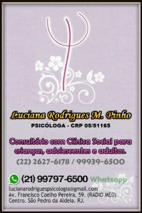 Psicóloga Luciana Rodrigues