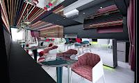 infografía de Proyecto de interiores para cafetería ten con ten
