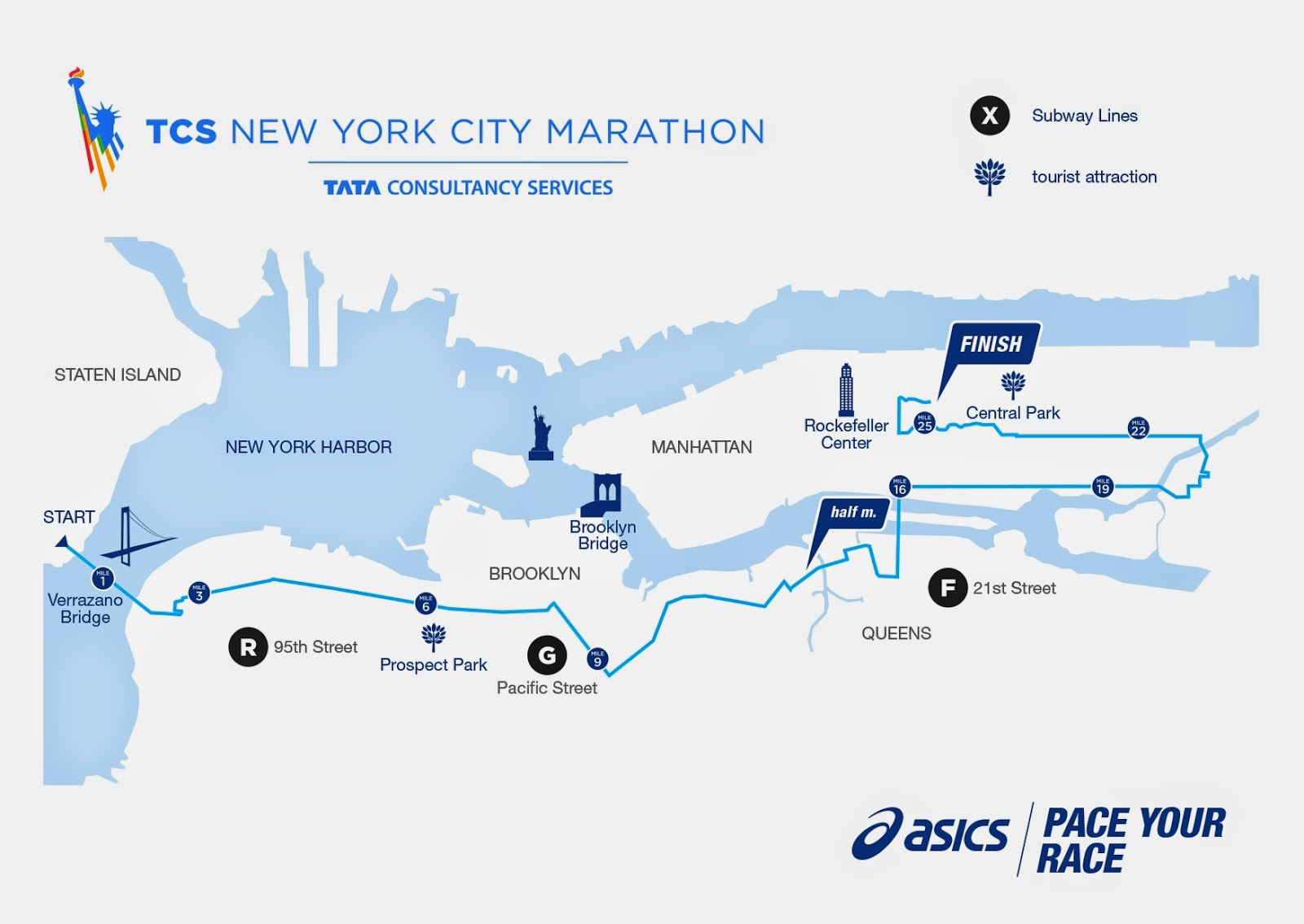 NYC Marathon  Route Details SILivecom New York City Marathon - Nyc marathon course map pdf