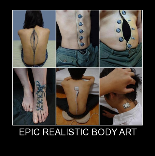 Epic Realistic Body Art