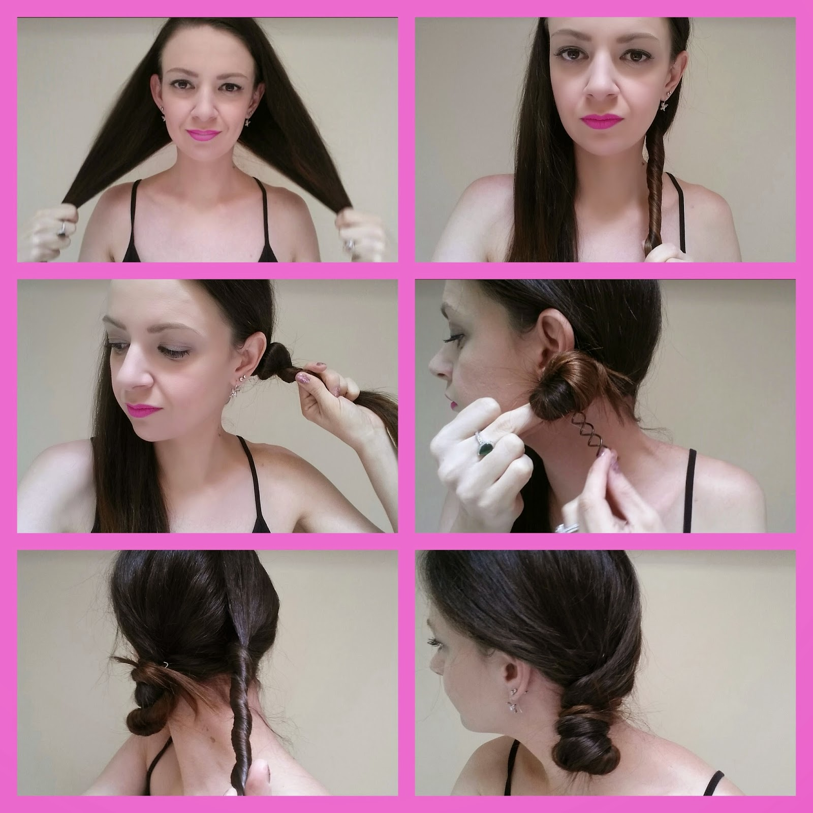 SCUNCI PIN TWIRLS SIDE BUN STEP BY STEP HAIR TUTORIAL HOW TO REVIEW VIDEO!​