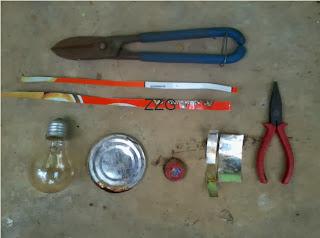 Alat-alat untuk membuat lampu minyak
