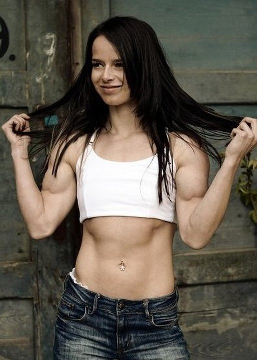 Muscular indian females indian girl with biceps
