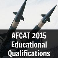 AFCAT 2015  Educational  Qualifications