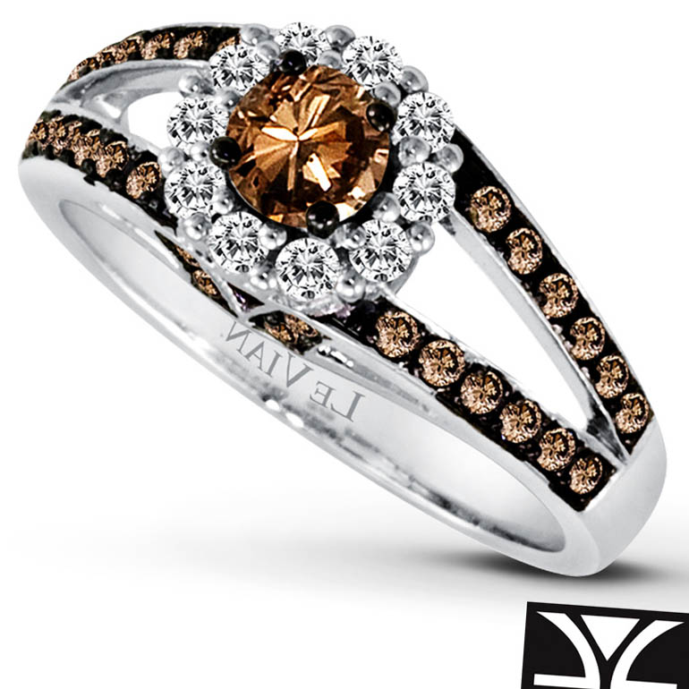 engagement wedding ring rose and rings diamond cut pink in with a gold chocolate liza vision