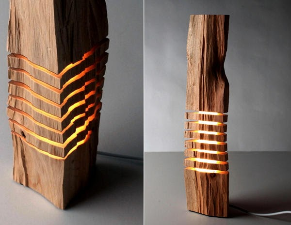 Beautifully Crafted Wooden Lighting Fixtures That Look Like Sculptures