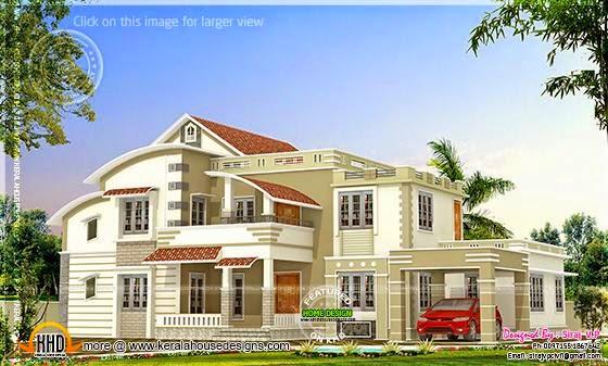 Villa sober color design